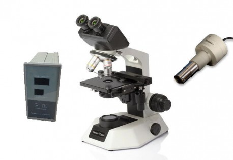 Microscope Theia-Fi avec cam., pl.chauf. & Co. Ph.